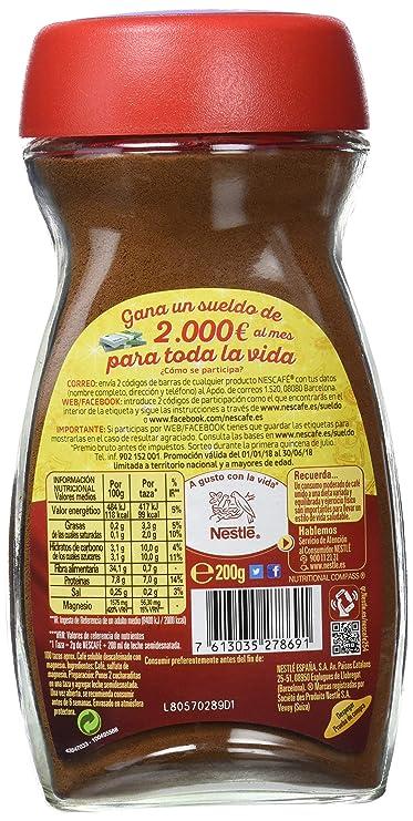 Nescafé Vitalissimo Descafeinado - Café Soluble - 2 Paquetes de 200 g: Amazon.es: Alimentación y bebidas