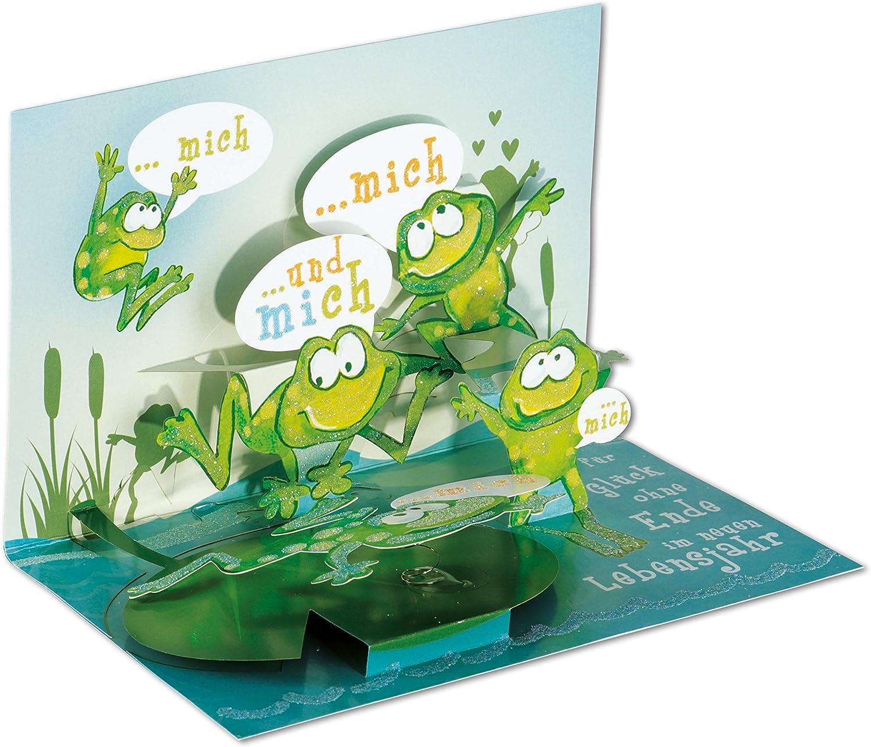 POP Motiv: Fu/ßball mit Glitter 3D Pop Geburtstagskarte 3D UP Karten UP Karte Geburtstag POP UP Karten Geburtstag