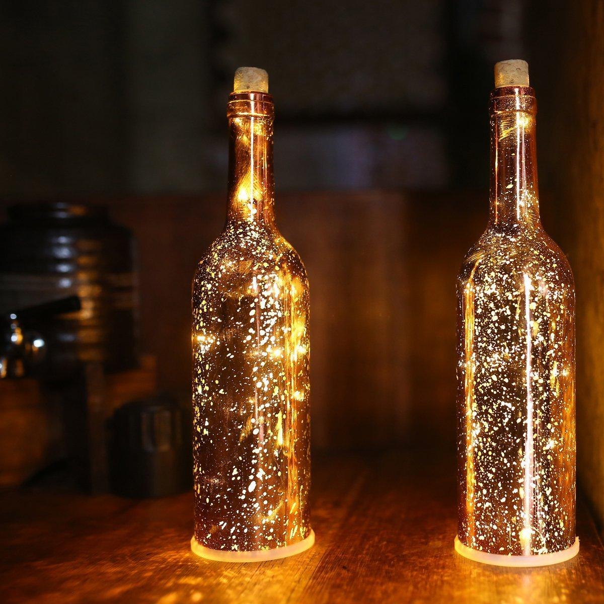 Amazoncom AceLife Wine Bottle Light LED Starry
