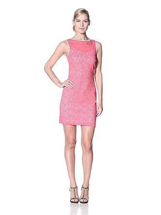 Amazon.com: Marc New York Dresses Womens Sleeveless Floral Lace Chemise, Watermelon, 12 US: Clothing