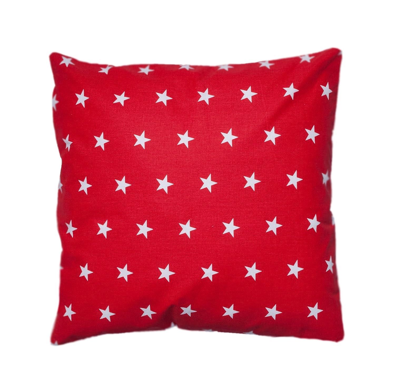 Amilian/® Dekokissen Kissenbezug Kissen 80cm x 80cm Sternchen rot