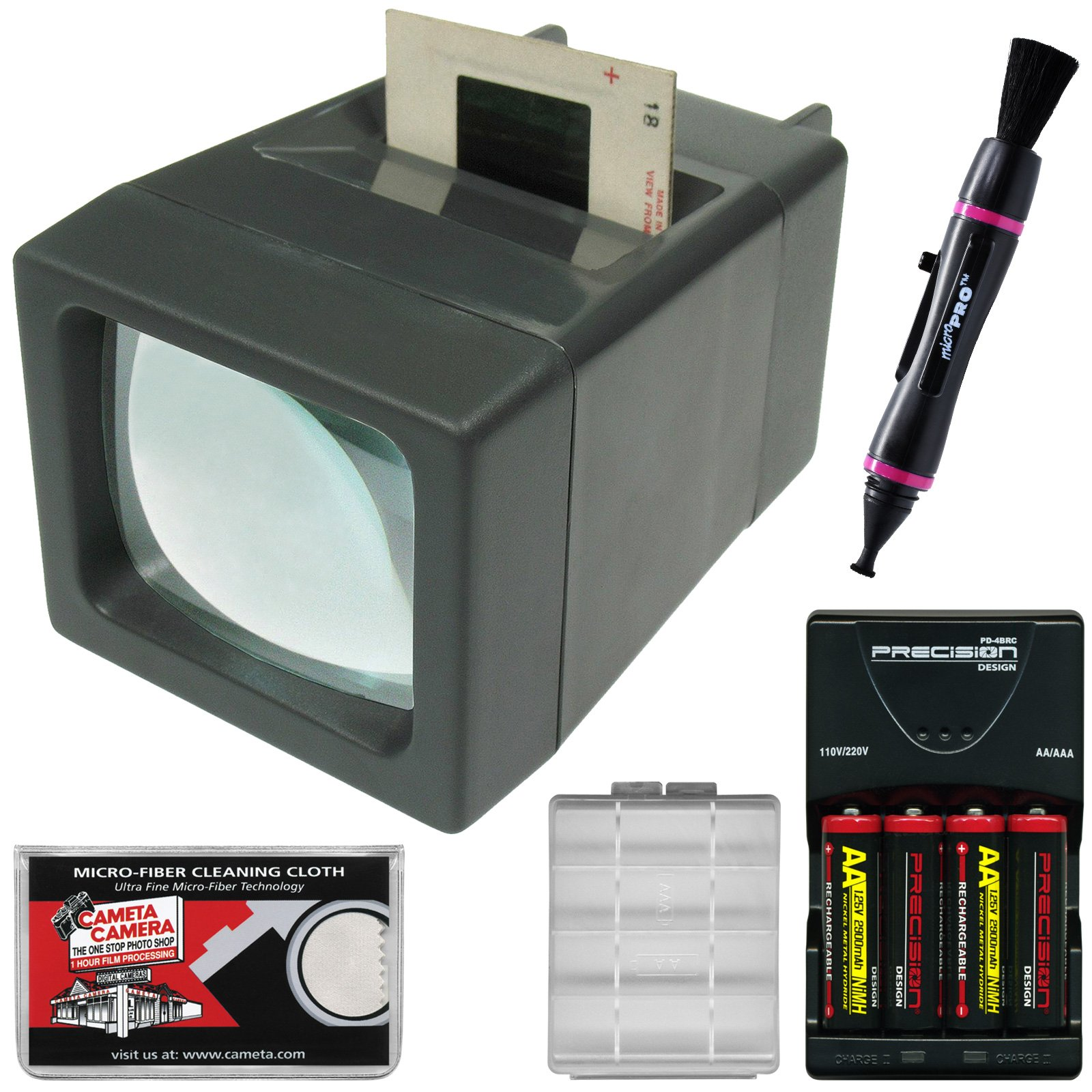 Zuma SV-2 LED Lighted 35mm Film Slide and Negative Viewer with Batteries & Charger + Kit by Zuma