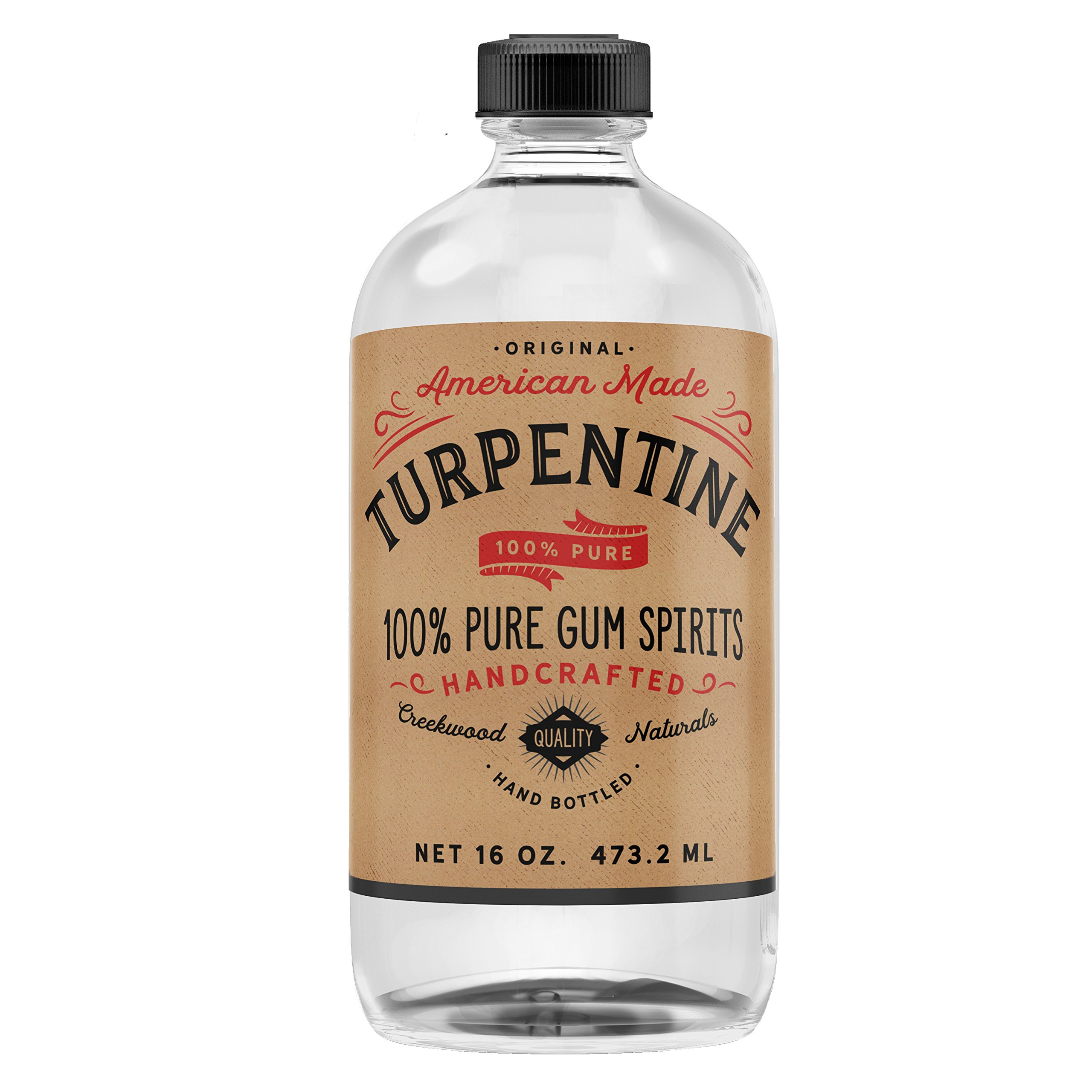 100% Pure Gum Spirits of Turpentine - 16 oz