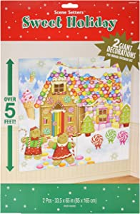 Amscan 670231 Sweet Holiday Scene Setters Add-Ons Christmas Accessory, 2 Ct. | Plastic
