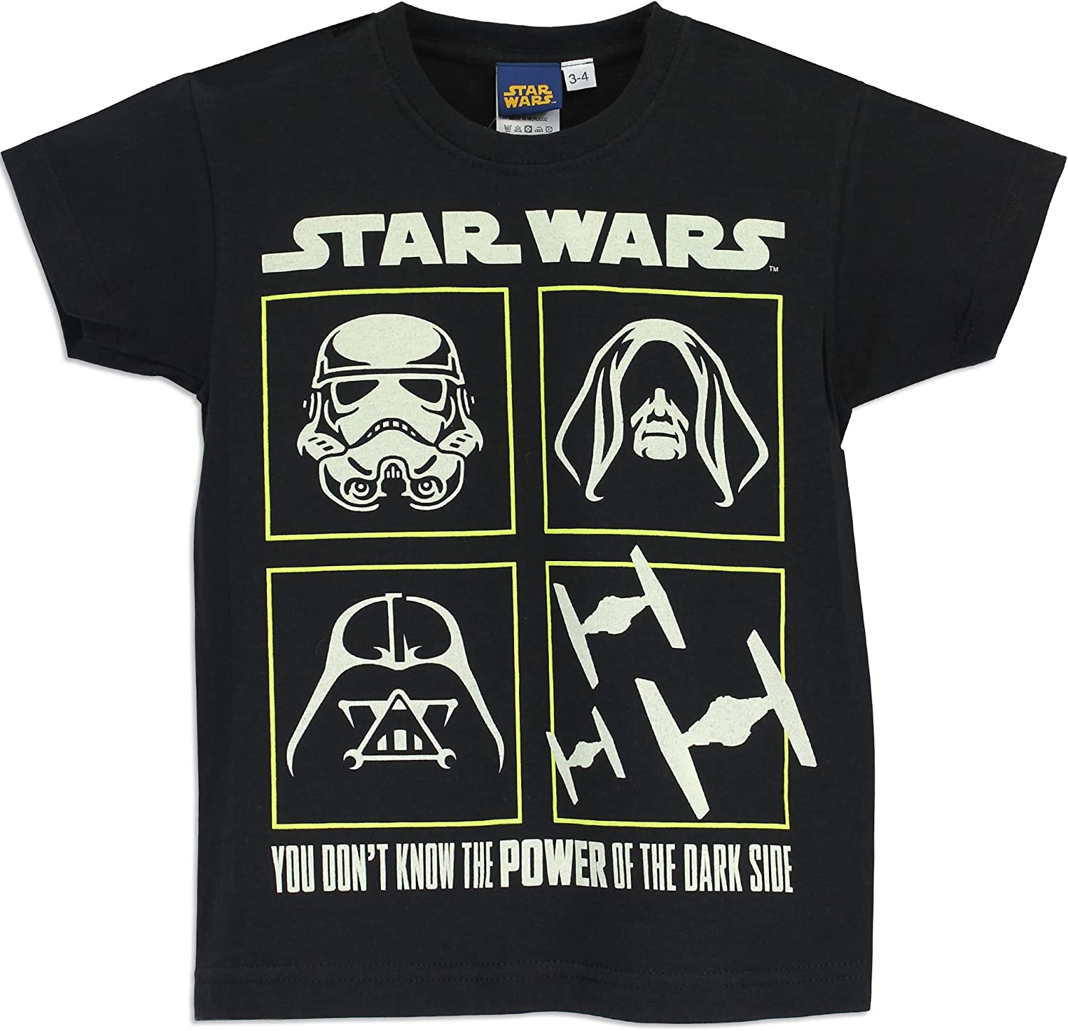 Black Star Wars Boys/' Sith Lord Dress Shirt and Tie
