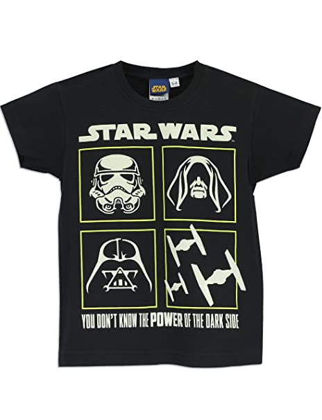 Amazon Com Star Wars Boys Star Wars T Shirt Glow In The Dark Clothing