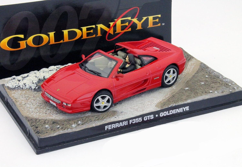 Ferrari F355 Gts James Bond Movie Car Goldeneye Rot 1 43 Ixo Amazon De Spielzeug