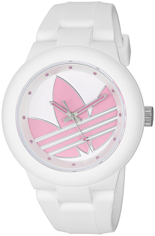 adidas de la mujer de Aberdeen de cuarzo Casual reloj (plástico y silicona, color: blanco (modelo: adh3143)