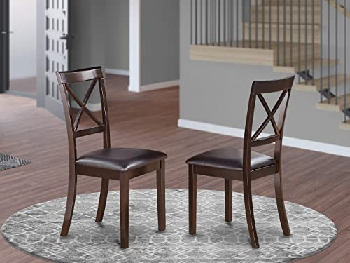 East West Furniture Boston Dining Chairs Set of 2