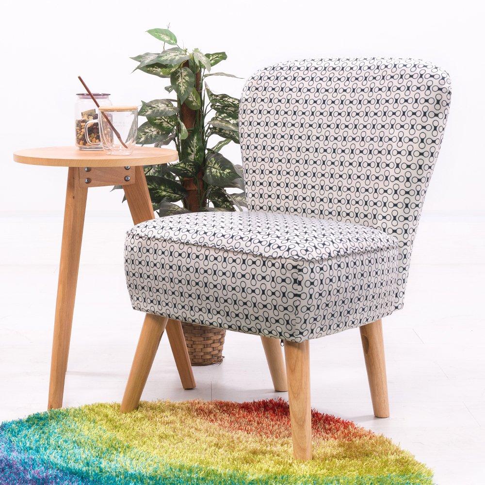 Keinode Poltrona in Tessuto di Lino Modern Furniture Upholstered Accent Cuscino Divano per Soggiorno, Camera da Letto, Salotto Ufficio Grey