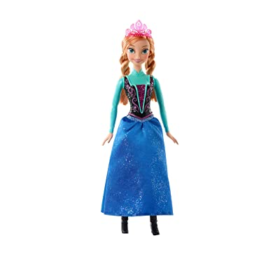 Mattel Disney Frozen Sparkle Princess Anna Doll: Toys & Games