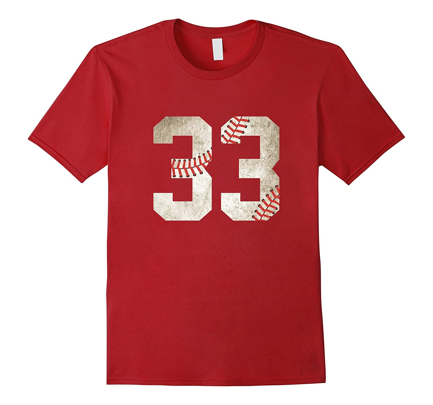 33 Baseball Jersey Number T-Shirt for Team Fan Player #33-CL
