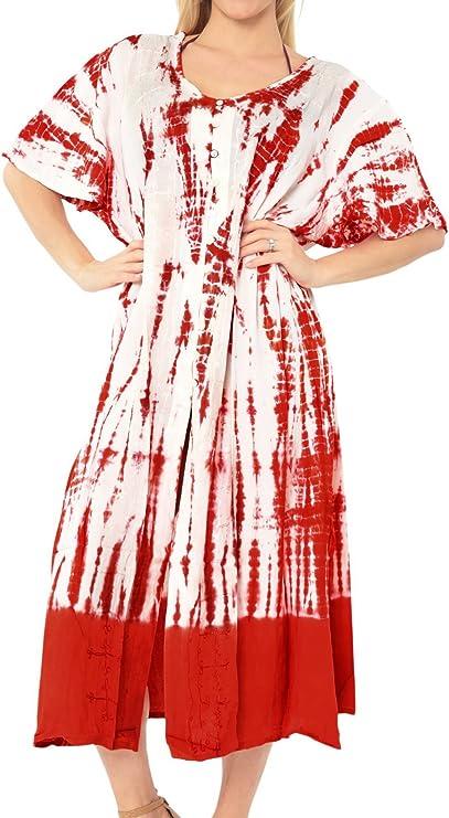 TALLA 44-46. LA LEELA Tie Dye rayón Encubrir Traje de baño de Las Mujeres Vestido de la Playa