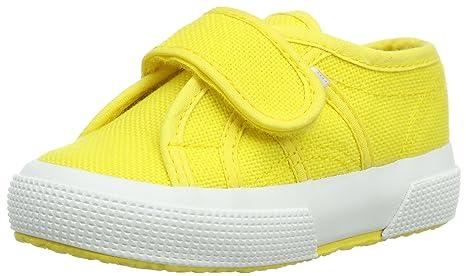 Superga 2750-Bvel S001FJ0 - Zapatos para bebé de Lona, Amarillo (Sunflower), 3 UK Child