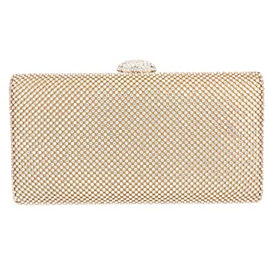 f9e42aa1a2a Bonjanvye Envelope Handbag Oversized Evening Purses Bag Clutches AB Gold