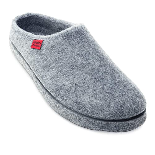 5071268b528d Andres Machado AM001 Comfortable Felt Slippers with Footbed Made in Spain  Unisex - Small