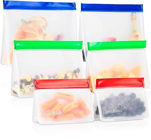 Amazon.com: Bolsas de aperitivos ecológicas reutilizables ...