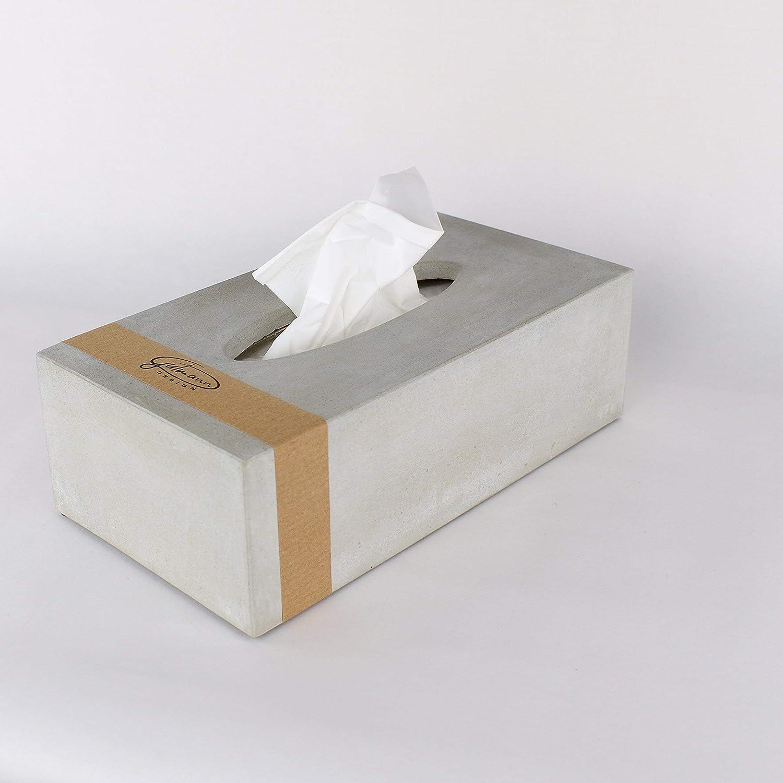 Tissue Box aus Beton Kosmetikt/ücher Taschent/ücher handgemacht in Deutschland