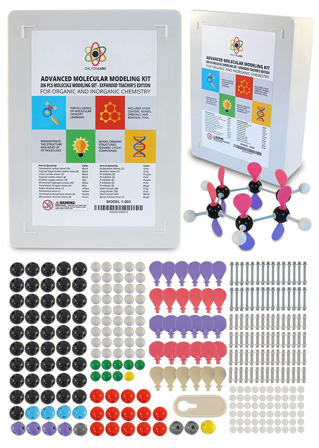 Dalton Labs Molecular Model Kit with Molecule Modeling Software