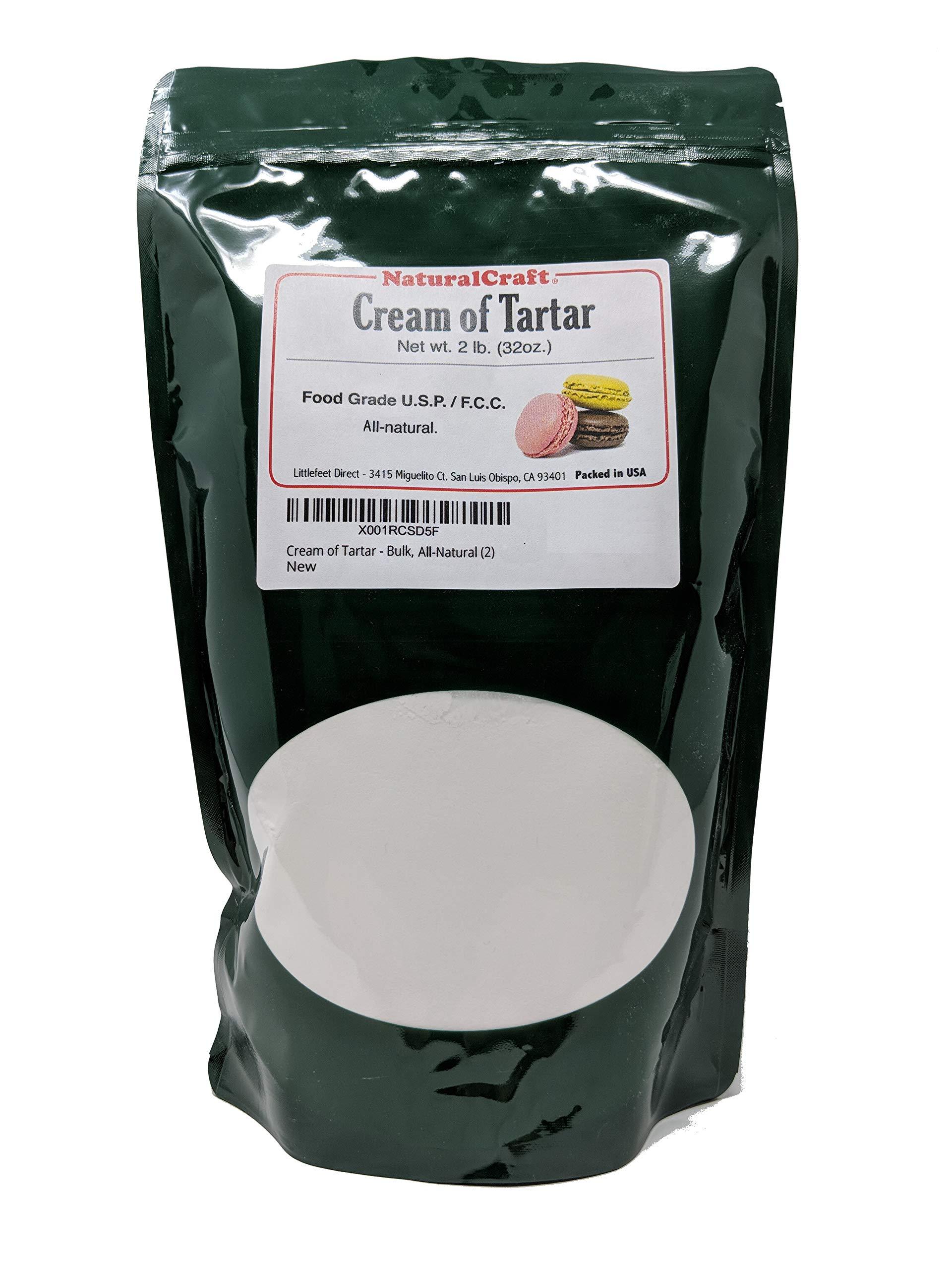 Cream of Tartar, 2LB (32 oz), Bulk, Organic, Powder, Gourmet - All-Natural