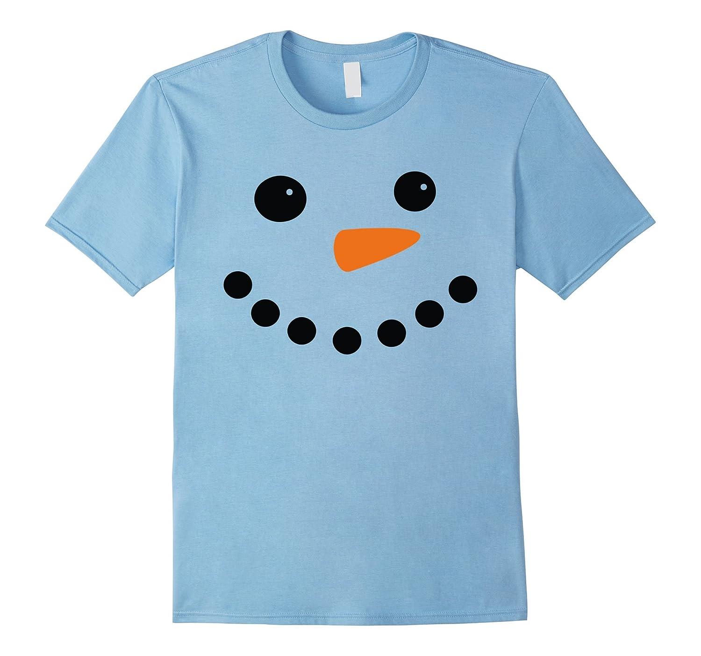 Christmas Snowman Face T-shirt-BN