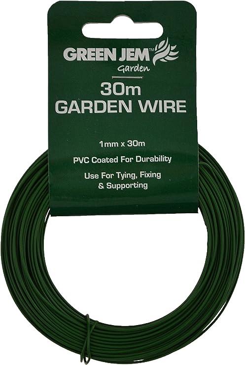 Green Jem, Alambre de jardín galvanizado, Color: Plateado: Amazon.es: Jardín