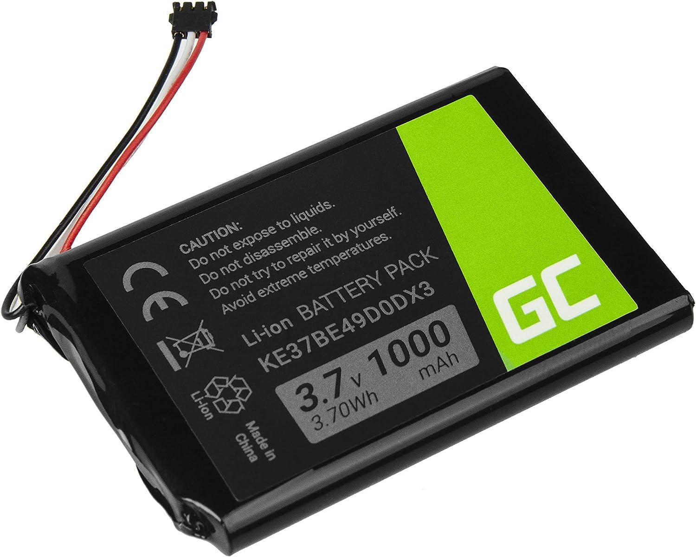Li-Ion Celdas 1000mAh 3.7V Green Cell/® KE37BE49D0DX3 Bater/ía para Garmin