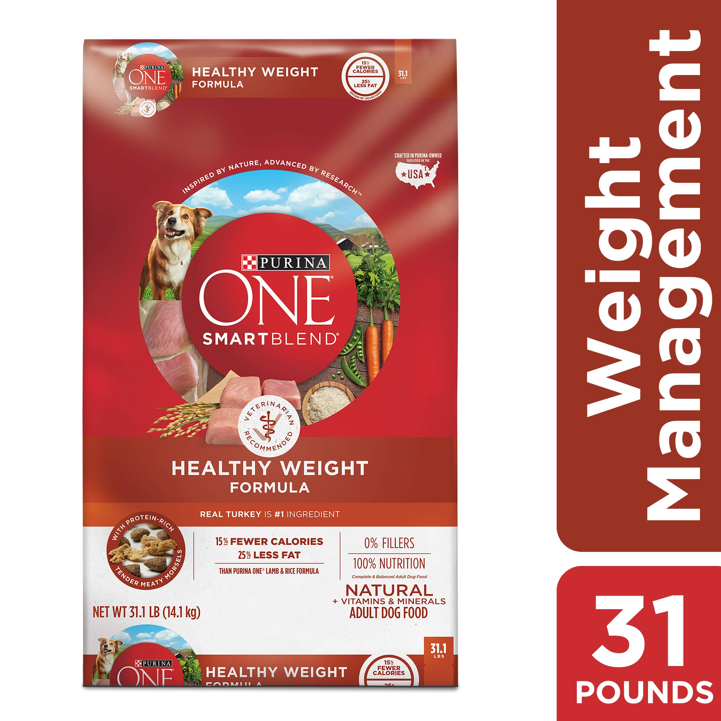 Purina ONE Weight Management, Natural Dry Dog Food, SmartBlend Healthy Weight Formula - 31.1 lb. Bag by Purina ONE
