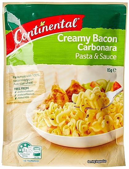 Continental, Pasta con Salsa de Tocino Carbonara 85g