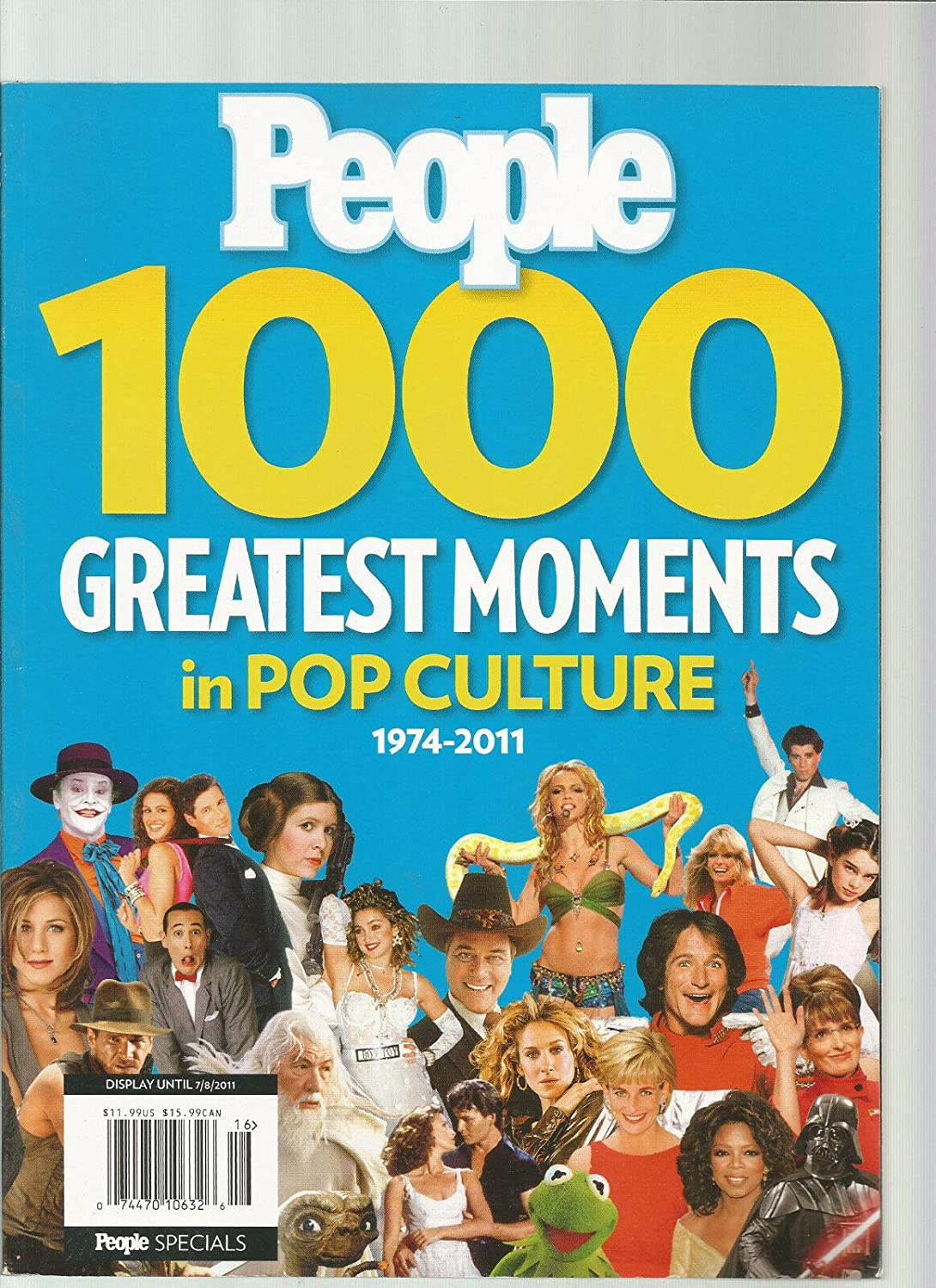 PEOPLE MAGAZINE 1000 GREATEST MOMENTS IN POP CULTURE 1974-2011 Unbranded