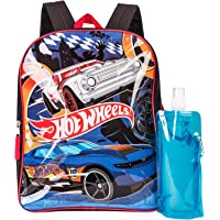 Hot Wheels Backpack Combo Set - Hot Wheels Boys' 3 Piece Backpack Set - Backpack, Waterbottle and Carabina