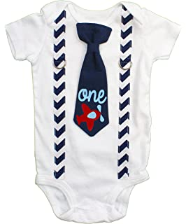 57618d2e372a Cuddle Sleep Dream Baby Boy 1st Birthday Outfit Cake Smash Bodysuit with  Tie and Suspenders Birthday