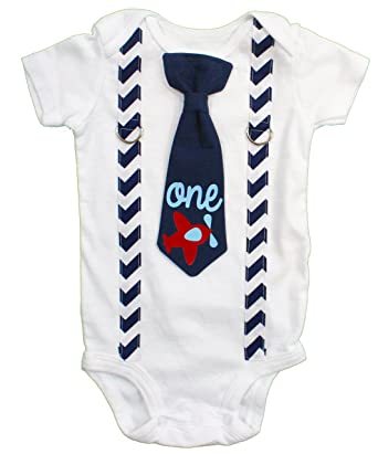 Cuddle Sleep Dream Baby Boy 1st Birthday Outfit Cake Smash Bodysuit With Tie And Suspenders