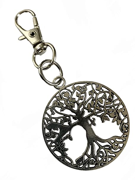 8df30763e5 Detailed Tree of Life Metal Keychain with Swivel Clasp at Amazon ...