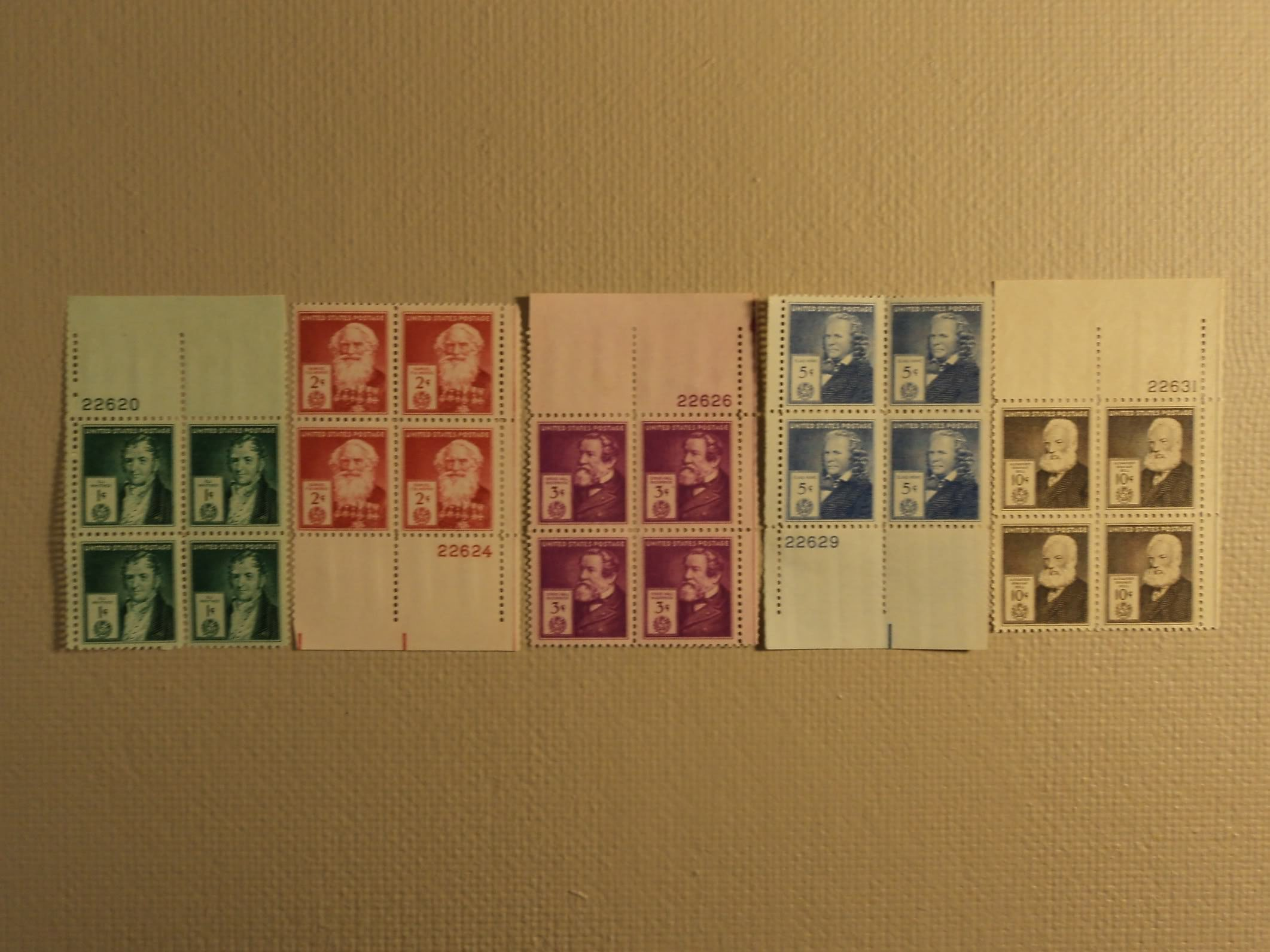 USPS Scott 889-93 1940 American Inventors Lot Of 5 Plate Block 20 Stamps Mint NH