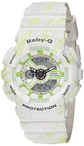 92b72a12d1800 Image Unavailable. Image not available for. Colour  Casio Women s Baby G  BA110TX-7A White Rubber Quartz ...