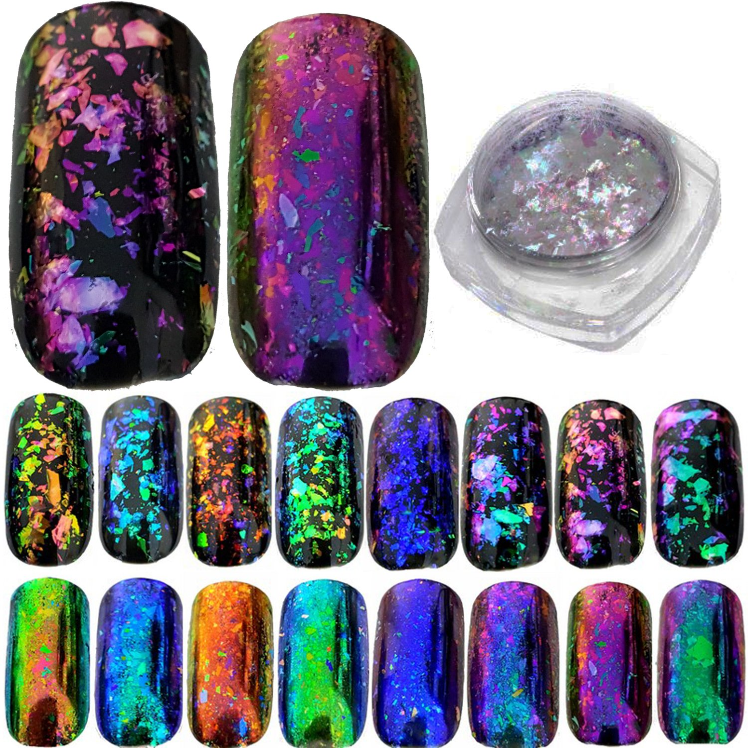 Chameleon Holographic Mirror Nail Flake Buy Online In China At Desertcart