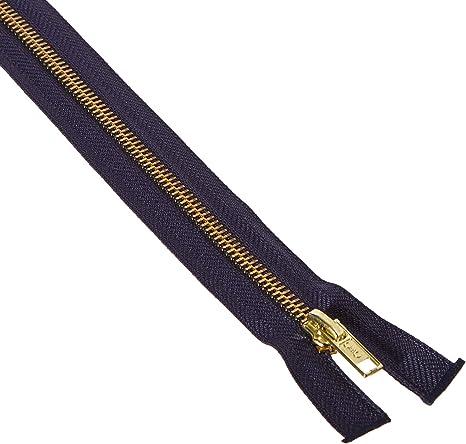 """Coats Heavyweight Brass Separating Metal Zipper 18/""""-Black"""