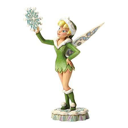 Jim Shore for Enesco Disney Traditions by Tinker Bell Winter Figurine, 7.8