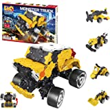 LaQ Hamacron Constructor Monster Truck - 5 Models, 165 Pieces| STEM Construction Building Set for Kids | Made in Japan…