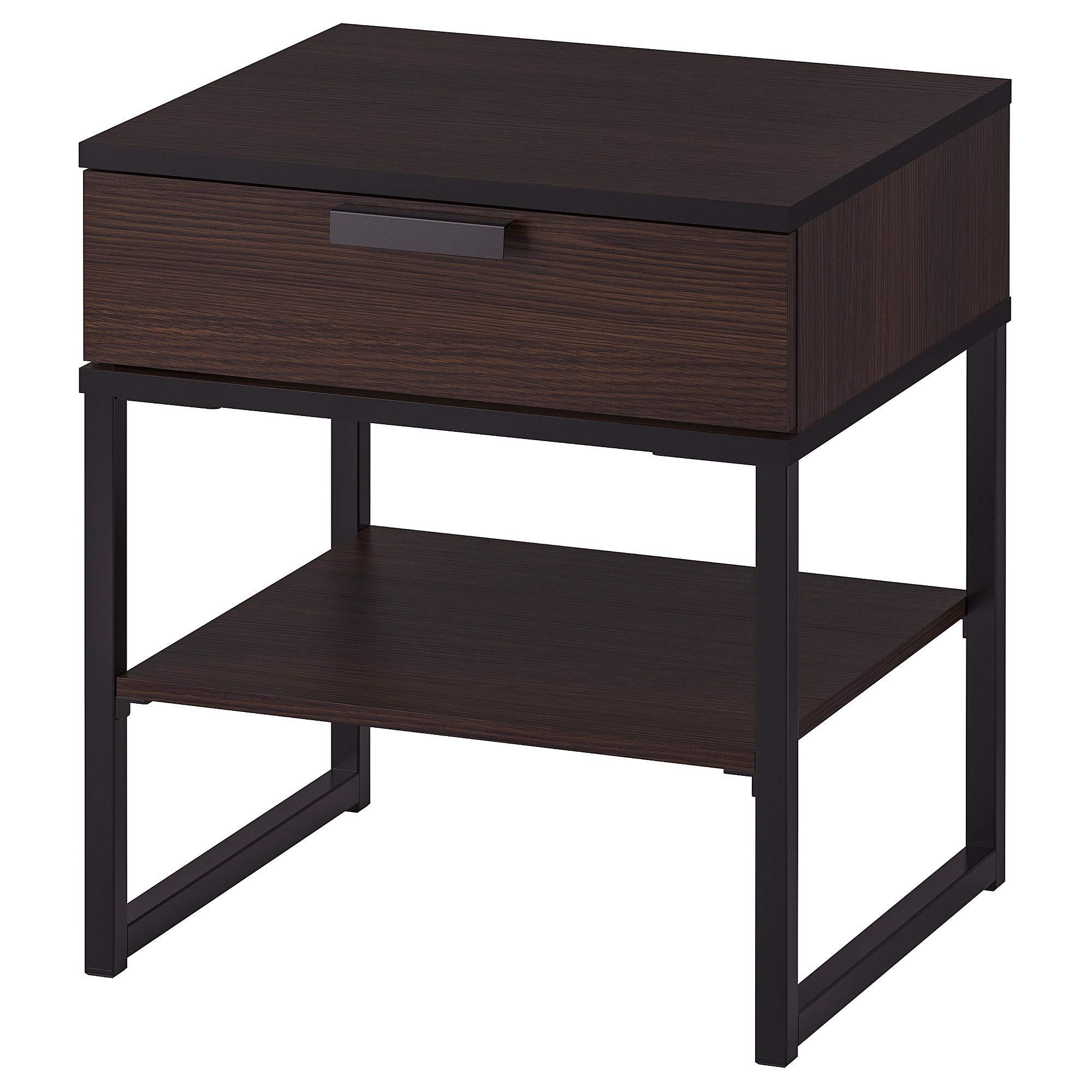 IKEA.. 602.360.24 Trysil Nightstand, Dark Brown, Black by IKEA..