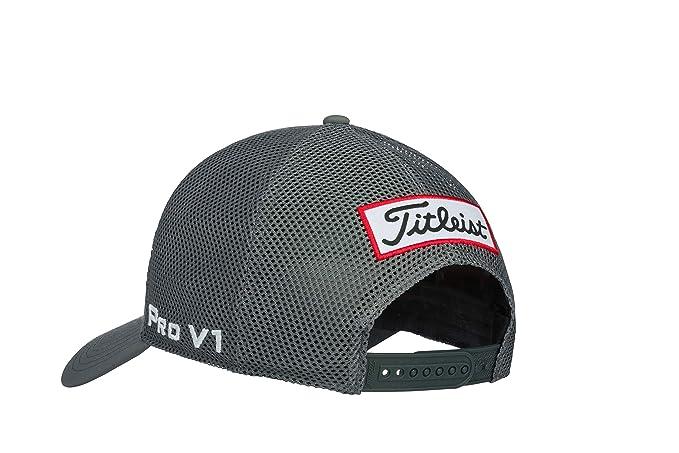 98c74ebd Amazon.com : Titleist Men's Tour Performance Mesh Golf Hat, Charcoal/White  : Sports & Outdoors