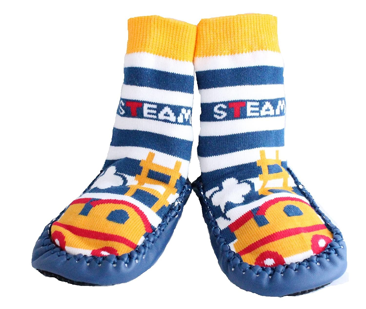 Baby Boy Toddlers Kids Indoor Slippers Shoe Socks Moccasins Anti