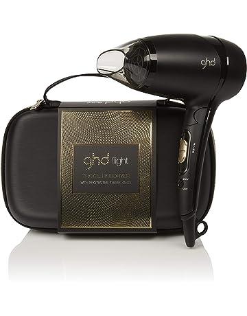 ghd flight gift set - Secador de viaje potente de diseño plegable con funda rígida protectora