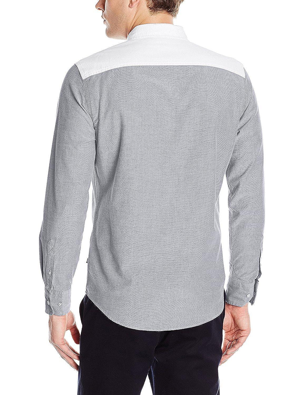 Nautica Camisa Oxford de Corte Ajustado con Bloques de Color para ...
