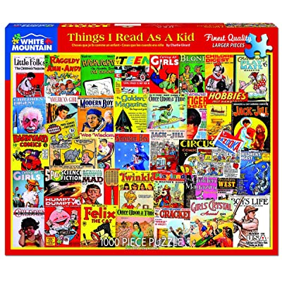 White Mountain Puzzles Things I Read as a Kid - 1000 Piece Jigsaw Puzzle: Toys & Games [5Bkhe0303514]