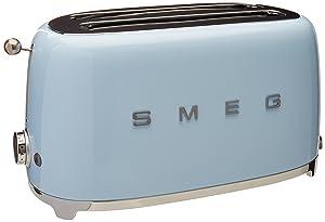 Smeg TSF02PBUS 50's Retro Style Aesthetic 4 Slice Toaster, Pastel Blue