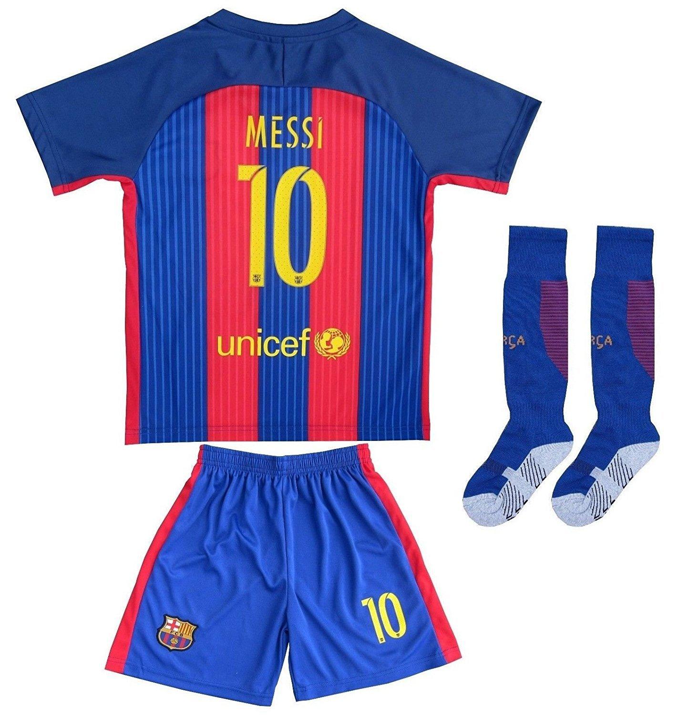 On sale barcelona lionel messi kid jersey 2016 17 home for Blue barcelona