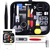 Vastar 151 PCS Watch Repair Kit, Watch Repair Tools Professional Spring Bar Tool Set, Watch Band Link Pin Tool Set with Carrying Case
