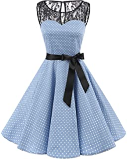 Bbonlinedress Womens 1950s Vintage Retro Polka Dot Swing